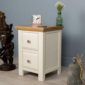 Lyon White Painted Oak Bedside Table