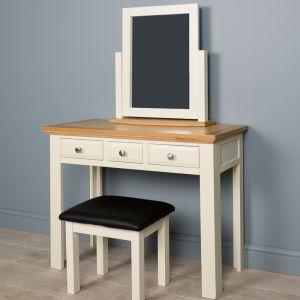 Lyon White Painted Oak Dressing Table Set