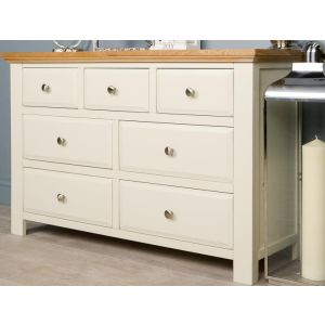 Lyon White Painted Oak Large Chest of Drawers