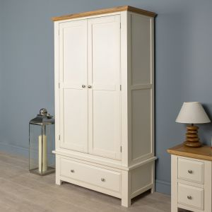 Lyon White Painted Oak Wardrobe