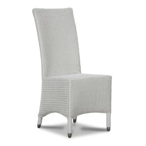 Lloyd Loom White Madera Dining Chair