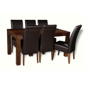 Mango 160cm Dining Table & 6 Madrid Chairs