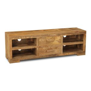Light Mango 2 Drawer Media Unit