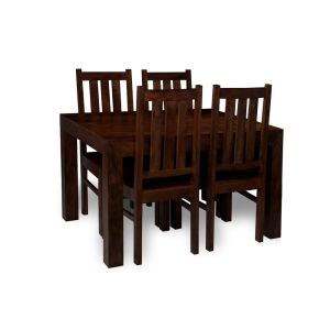 Small Mango Dining Table & 4 Dining Chairs