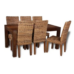 Mango 160cm Dining Table & 6 Havana Chairs