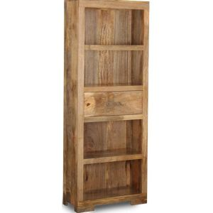 Mango Light 1 Drawer Bookcase