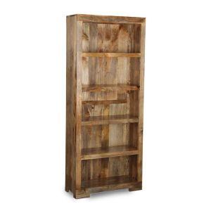 Light Mango Wood Tall Bookcase