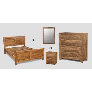 Small King Size Natural Cube Bedroom Package
