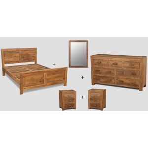 Large King Size Natural Cuba Bedroom Package