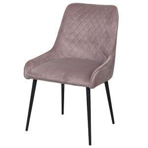 Soft Pink Henley Velvet Chair