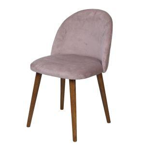 Soft Pink Zena Velvet Chair