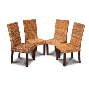 Set of 4 Havana Rattan Dining Chairs