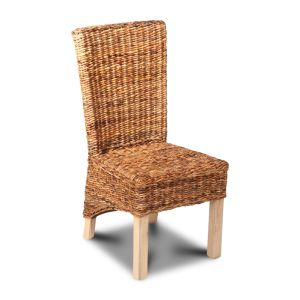 Light Rattan Rollback Dining Chair