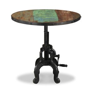 Reclaimed Indian Large Iron Crank Coffee Table
