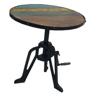 Reclaimed Indian Iron Crank Table