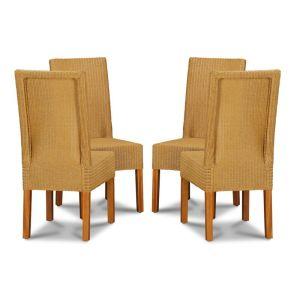 Lloyd Loom Natural Dynamo Dining Chairs x4