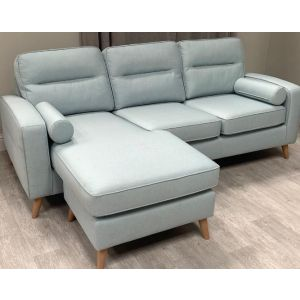 Large 3 Seater Blue Sofa (SL629)