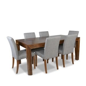 The Dakota 180cm Dining Table & 6 Milan Fabric Chairs