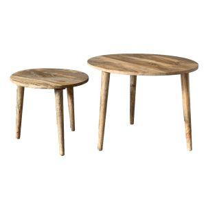 Light Retro Chic Nest of Tables