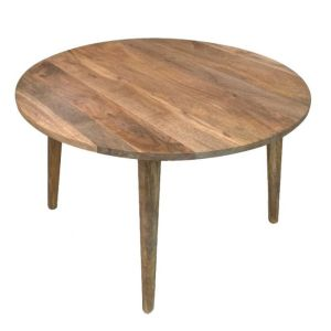 Light Retro Chic Large Round Dining Table