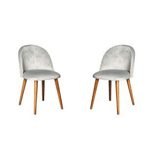 Set of 2 Zena Velvet Chairs