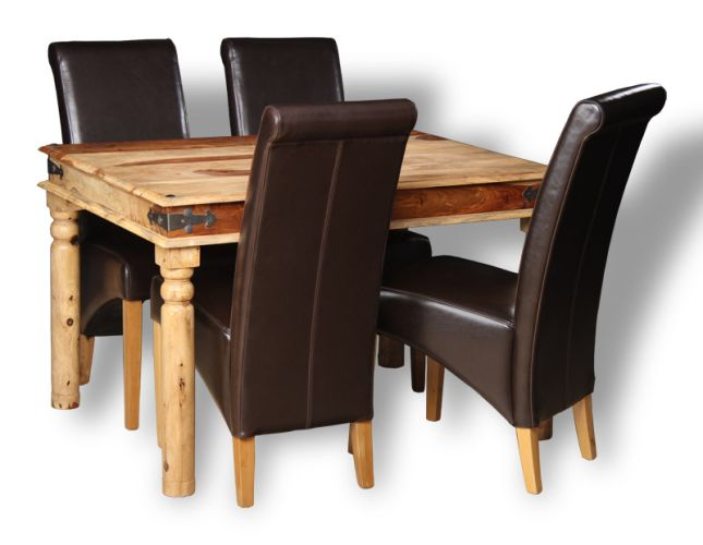 Jali Light 120cm Dining Table Amp 4 Rollback Chairs