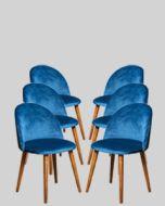 Set of 6 Zena Velvet Chairs