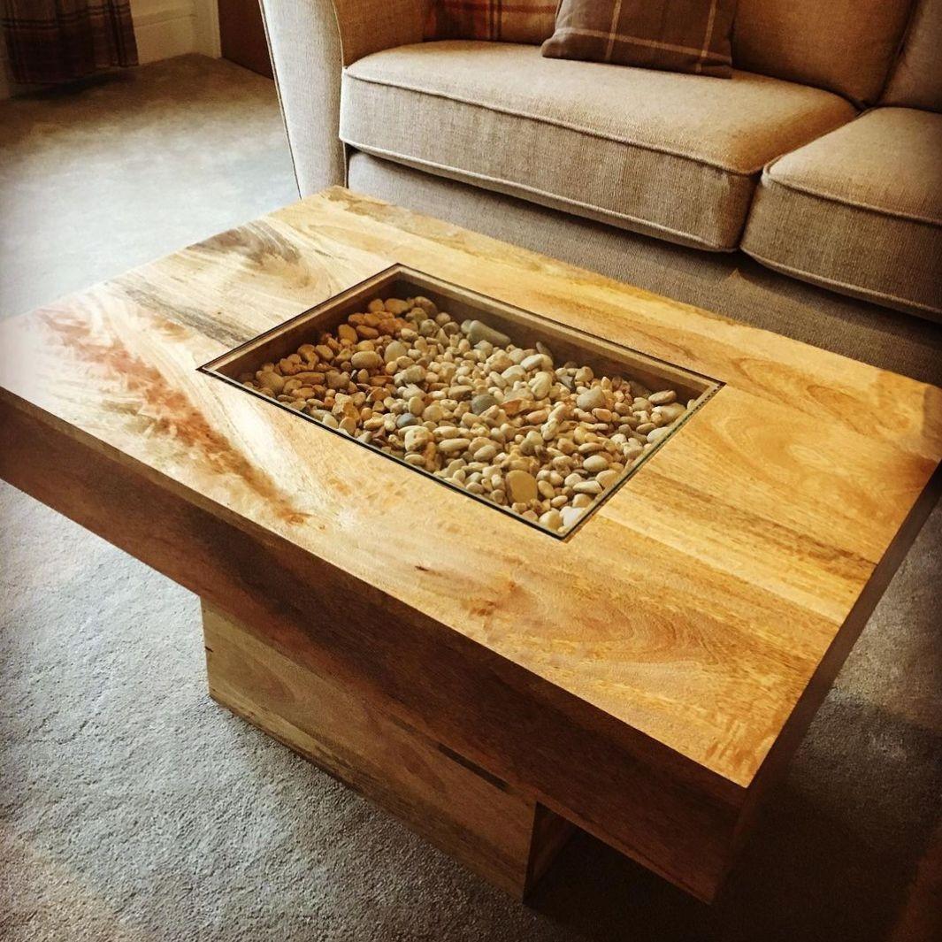 Light Dakota Large Pebble Coffee Table